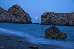 Luna llena (Carmen D.R) Tags: luna rijana mar agua naturaleza nature granada andalucia canon 6dmarkii night nocturna