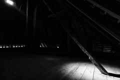 Empty Hayloft (Role Bigler) Tags: bw canon canoneos5dsr ef401635lisusm roof schwarzweiss schweiz switzerland arbor balk bar beam blackwhite blackandwhite emptyhayloft farmhouse hayloft scantling timber