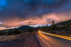 A magical blue hour (Vagelis Pikoulas) Tags: blue hour car lights long exposure kithairwnas kithaironas mountains mountain greece road street summer sunset night landscape view sky skyscape clouds cloudy cloud cloudscape canon 6d july 2018
