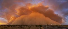 Sunset Haboob (Saguaro Pictures) Tags: haboob dust storm arizona azwx awesomeweather duststorm