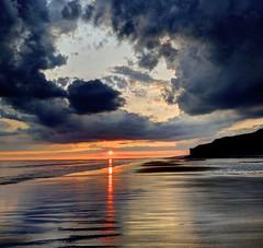 Black Pearl (pauldunn52) Tags: nash point cwm beach reflections sunset patterns cliffs sea coast glamorgan heritage