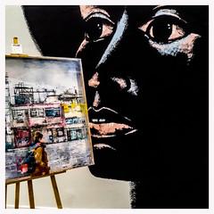 ... (Lanpernas .) Tags: expo tabakalera arte arteuparte graffiti cuadro pintura 2018 donostia verano art galería cameraphone