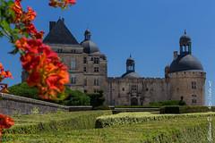 Château de Hautefort et illustration florale (irslo1) Tags: canon canon700d canoneos canoneos700d dordogne eos700d france hautefort nouvelleaquitaine chateau