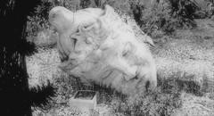 Punished (Loegan Magic) Tags: secondlife theapothecary buddha statue broken blackandwhite monochrome outdoors