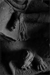 mudra, ellora (nevil zaveri (thank U for 15M views:)) Tags: zaveri goddess ellora caves cave32 unesco world heritage maharashtra india photography photographer images photos blog stockimages photograph photographs rockcut basalt aetrip interior carving monochrome bw blackandwhite nevil rocks nevilzaveri stock photo closeup motif