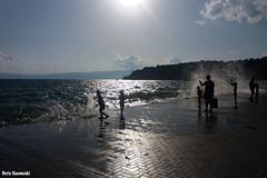 Afternoon waves (borisnaumoski) Tags: ohrid macedonia lake town july summer waves people afternoon