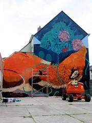 Bastardilla & Erica il Cane / Ham - 16 jul 2018 (Ferdinand 'Ferre' Feys) Tags: gent ghent gand belgium belgique belgië streetart artdelarue graffitiart graffiti graff urbanart urbanarte arteurbano ferdinandfeys ericailcane bastardilla