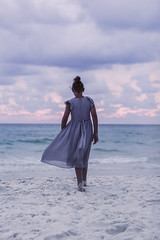 (Rebecca812) Tags: girl beach dress 31a gulfcoast ocean sea seashore mystery fineartphotography breeze wind sand water sunset florida romatic beauty portrait rearview fulllength walkingaway skyoverhorizon nature serene calm canon people rebeccanelson rebecca812