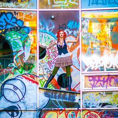 Charli Blake (Thomas Hawk) Tags: america bayarea california charli charliblake cossonhall logo sf sagehall sanfrancisco starburst treasureisland usa unitedstates unitedstatesofamerica westcoast abandoned decay graffiti fav10 fav25 fav50