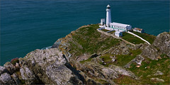 South Stack Lighthouse (WatsonMike) Tags: anglesey bay british elins england english europe gb greatbritain isleofanglesey landscape lighthouse scenic sea seascape southstackroad tower trearddur uk unitedkingdom wales water ocean