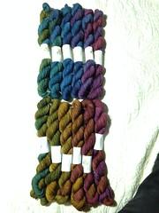 Verve, Harvest Moon, full set (Lunarium Arts) Tags: knitting yarn tus harvestmoon earthfaire theuniquesheep merino superwash fingering