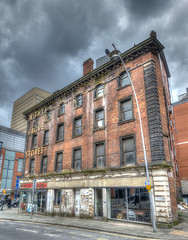 Withy Grove Stores (dlsmith) Tags: nq shudehill decaying derelict mcr shop sonyrx100m3 sonyrx100 northernquarter building withygrove pacman old manchester hdr photomatix