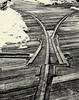 Dockside RR (PAJ880) Tags: shipyard railways charlestown ma navy yard boston switch point rails bw mono