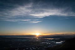 Cloud front (joshhansenmillenium) Tags: nikon nikond5500 d5500 tamron tamron18200 sunset sunsets sunsetnerd saltlakecity salt lake city antelope island utah hiking great airplane cloudscape mountains