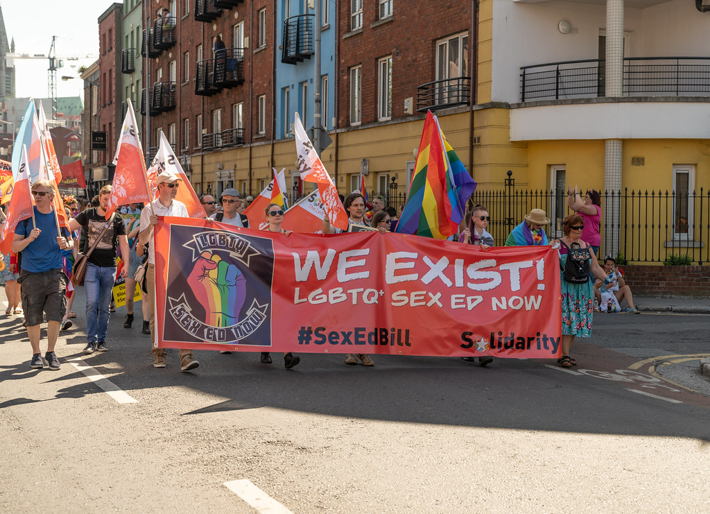 ABOUT SIXTY THOUSAND TOOK PART IN THE DUBLIN LGBTI+ PARADE TODAY[ SATURDAY 30 JUNE 2018] X-100012