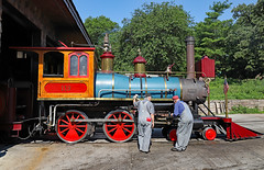 Firing Up 119 (jterry618) Tags: omahazoorailroad henrydoorlyzoo omaha nebraska steamlocomotive steamengine narrowgauge steamtrain