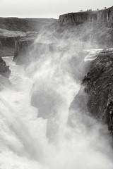 Longest Drop 21 Meters (pni) Tags: monochrome canyon stone rock mist homunculi landscape view hvítá river water waterfall gullfoss is18 iceland ísland pekkanikrus skrubu pni
