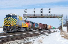 On My Last Snow Day... (Joseph Bishop) Tags: crex 1506 ge es44ac cndundassubdivision paris pariswest trains train track tracks t railfan railroad railway rail rails