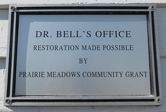 Dr. Bell's Office Plaque (Lucas, Iowa) (courthouselover) Tags: iowa ia lucascounty lucas