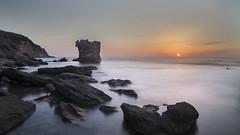 La Torre Affogata (nicolamarongiu) Tags: landscapes paesaggio longexposure lungaesposizione sunset tramonto mare effettoseta scogliera torre portopaglia sardegna sardinia colori italt