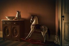 Fort Delaware (Jen MacNeill) Tags: fort delaware civilwar era history historic site american us usa children room rocking horse toy light
