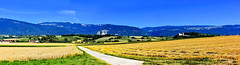 Panorama Nord Vaudois (Diegojack) Tags: champvent d7200 mathod vaud suisse nikon nikonpassion campagne nordvaudois cultures route panorama assemblage groupenuagesetciel