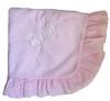 Seersucker Ruffle Baby Blanket (initial_impressions) Tags: embroidered personalized seersuckerruffledbabyblanket pinkseersucker