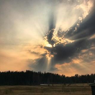 ~ amazing sky ~ Riddarhyttan Sweden 20-4-2018
