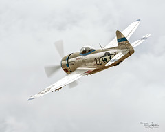 """Ross Granley piloting the Flying Heritage & Combat Armor Museum 1945 Republic P-47D Thunderbolt """"Tallahassee Lassie"""" NX7159Z (N7159Z). (Hawg Wild Photography) Tags: ross granley 1945 republic p47d thunderbolt tallahasseelassie nx7159z n7159z flying heritage combat armour museum 2018 arlington flyin paulgallen arlingtonmunicipalairportkawo terrygreen hawg wild photography wwii fighter"""