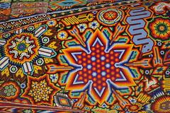 huichol texture 3 (ikarusmedia) Tags: beads chaquira art artcraft huichol flower serpent peyote texture pattern expo reforma avenue mexico city