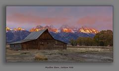Moulton Barn, Jackson Hole (Malcolm Benn) Tags: 2017 mgbenn malcolmbenn canon usa wyoming 5dmiv