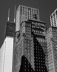 Tip Top Tap (RW Sinclair) Tags: 2018 50 50mm chicago ilce ilce7m2 july sel50f18f summer a7 a7ii digital f18 fifty fullframe mk2 niftyfifty normal sony blackandwhite bnw bw monochrome architecture chiarchitecture cityscape allerton tip top tap