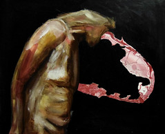 plagiarism (Dave Nevard) Tags: plagiarism acryliconcanvas acrylicpainting acrylic figurative figurativepainting expressionism