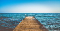 Lines (cristian_dumitriu) Tags: cyprus paphos sea pier sunset lines minimal summer sky blue