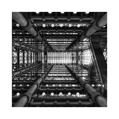 The Atrium - explored (Joseph Pearson Images) Tags: architecture london abstract lloydsbuilding richardrogers atrium square blackandwhite bw mono building