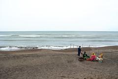 Too early to play on the beach (eijun.ohta) Tags: wave barbecue grill picnic japansea ishikaribeach hokkaido japan 海岸 海辺 日本海 砂浜 海 砂 日本 北海道 石狩浜 バーベキュー ピクニック