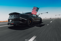 Mustang Rolling Shot (scubamatic) Tags: ford mustang 50 5oh american muscle s197 slammed stancenation