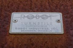 Robot Turnstile (MarksPhotoTravels) Tags: greenvillecounty mill southcarolina southernbleacheryandprintworks taylors taylorsmill unitedstates