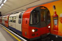 Northern Line blur (afagen) Tags: london england uk unitedkingdom greatbritain westminster trafalgarsquare londonunderground underground tube thetube subway transit charingcross train blur