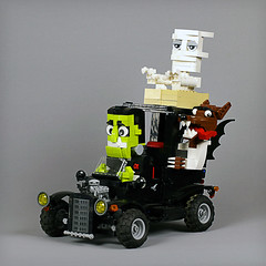Spooky RC Racer (Frost Bricks) Tags: lego spooky rc racwer moc addams family munsters monster car hotrod
