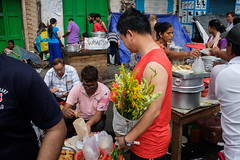 Food street (SaumalyaGhosh.com) Tags: food street flowers people gathering group composition men chinese momo streetphotography kolkata color colors india complex