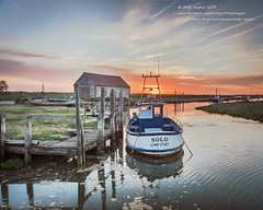 Solo at sunset (viewfinder.general) Tags: thornham fullmoon hightide