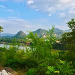 View over the river Kwae Noi near Wat Tham Khao Pun in Kanchanaburi, Thailand thumbnail