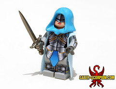 Princess Adrianya Skiera in Gothic Plate Armor (Saber-Scorpion) Tags: lego minifig minifigs minifigure minifigures moc brickarms wulfgard fantasy princess warriorprincess gothicplate platearmor gothicarmor fieldplate battlearmor armoredmage armoredwizard fightermage spellsword