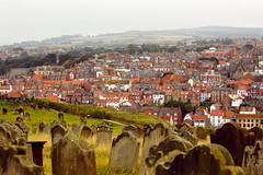 320A7094 Whitby from the church yard (Leeds Lad at heart) Tags: whitby yorkshire uk graves buildings houses architecture