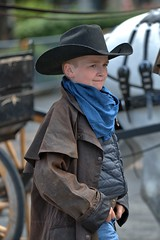 Young Cowboy (Scott 97006) Tags: boy cowboy hat parade horse outfit