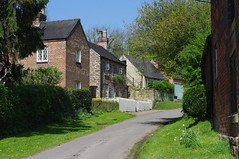 Our green and pleasant land (Blue Sky Pix) Tags: green grass springtime limestone cottages derbyshire england village farms pentax quiet backwater awayfromitall
