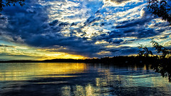 Something Old, Something New, Something Borrowed, ''Sunset Blue'' (Bob's Digital Eye) Tags: blue bobsdigitaleye canon canonefs1855mmf3556isll clouds flicker flickr june2018 laquintaessenza lake lakesunsets reflections silhouette sky skyscape sun sunset sunsetsoverwater t3i water