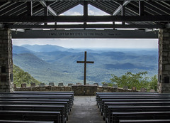 Fred Symmes Chapel..... (Kevin Povenz Thanks for all the views and comments) Tags: 2018 july kevinpovenz south greenville southcarolina pickens cleveland scenic chapel fredsymmeschapel symmeschapel wedding cross church pews mountains mountain view canon7dmarkii sigma god jesus religion blue