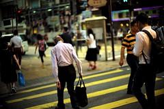 """Keeping up"" (jaxting) Tags: jaxting street streetphotography people hongkong hongkong candid m240 noctilux leica"